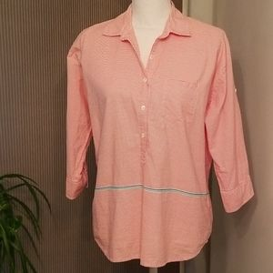 J. CREW Sz: 6 button up blouse adjustable sleeves
